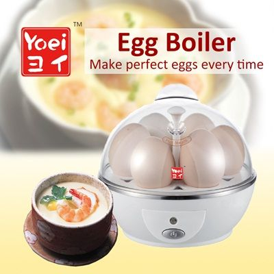 the secret to healthy morning. oh wait, can i steam fish slices with this?   //★YOEI Egg Boiler★Make Perfect soft-boiled or hard-boiled Egg Every Time!