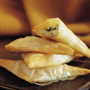 Three-Cheese Filo Triangles! My favourite Christmas appetizer