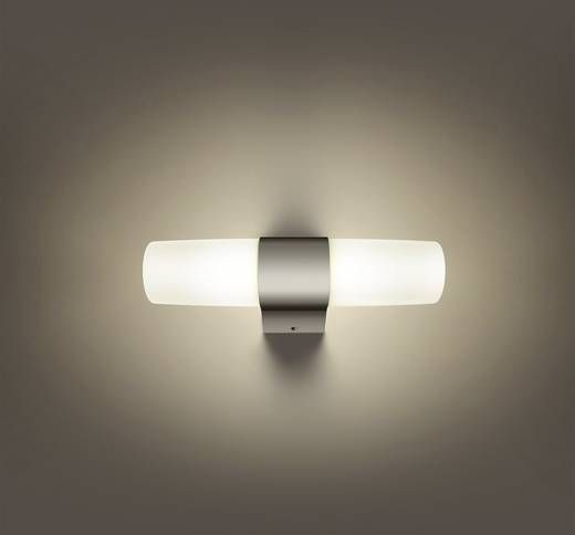 LED badkamer wandlamp 6 W Warm-wit Philips Lighting 340241116 Skin Chroom
