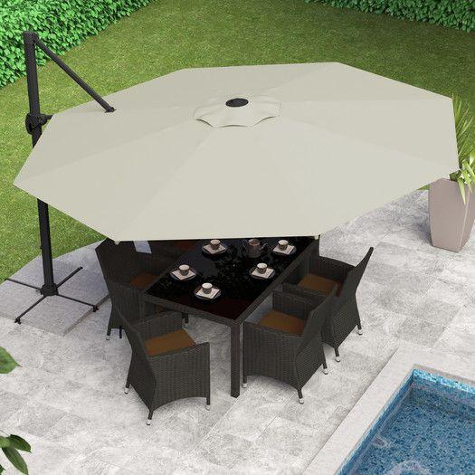 CorLiving 11' Deluxe Offset Patio Umbrella | AllModern