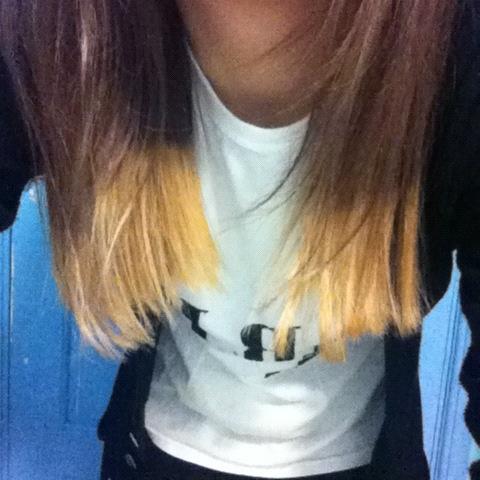 My own Dip-Dyed hair