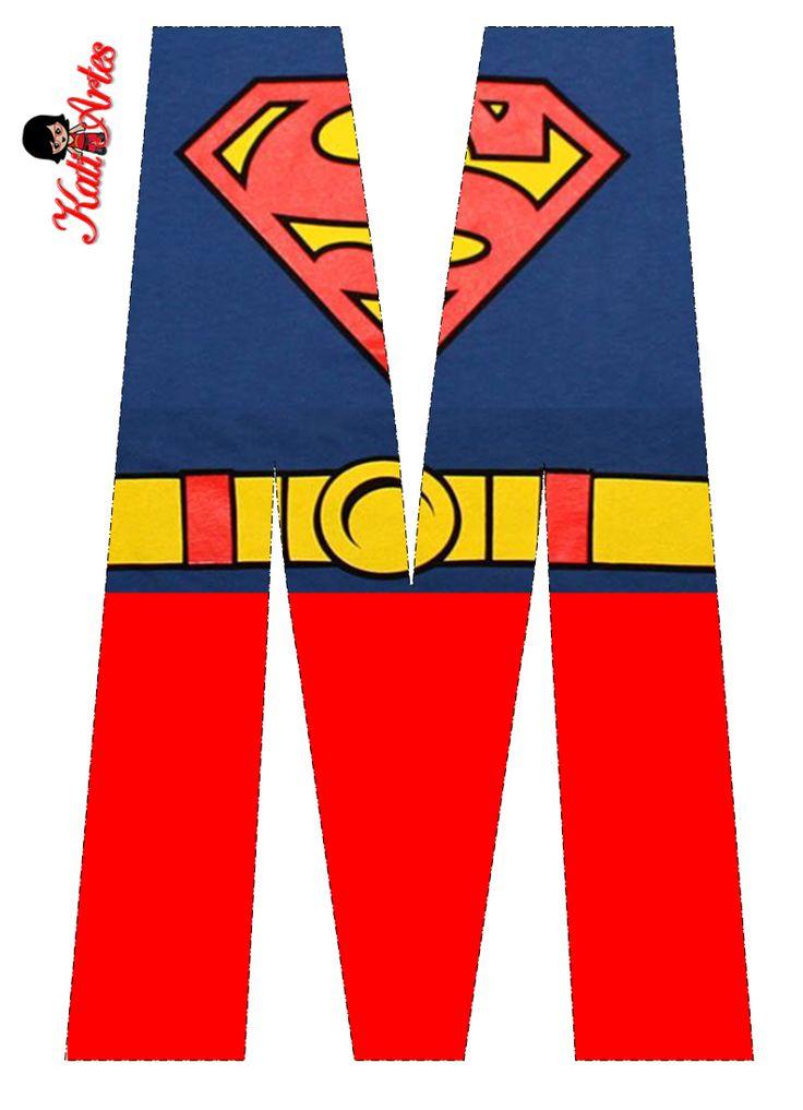 Superman Free Alphabet. Lindo Alfabeto de Superman Gratis.