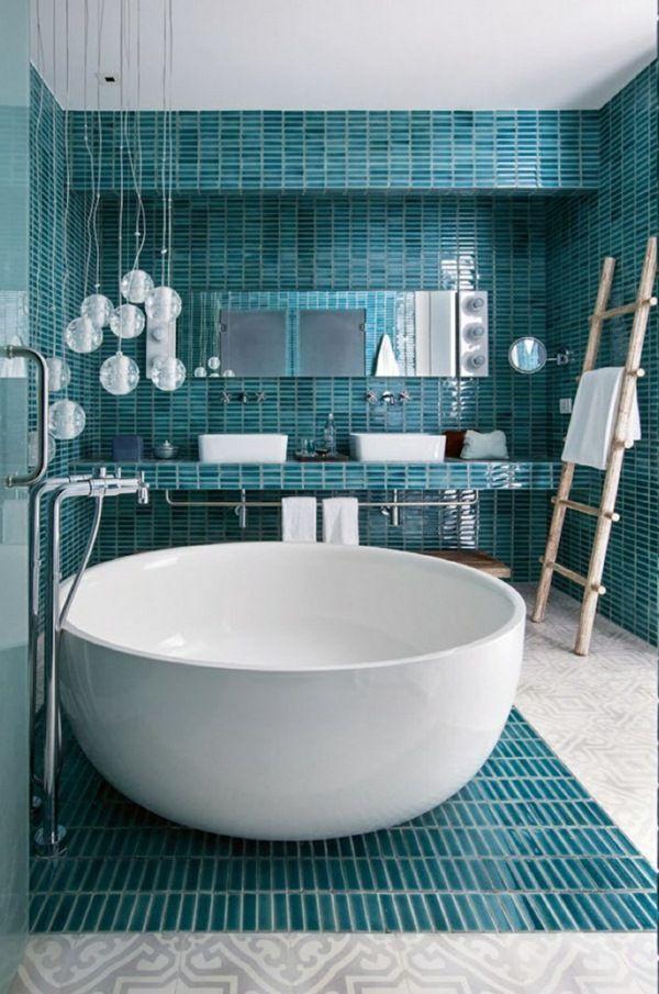 60 best Blue Bathrooms images on Pinterest Bathroom ideas, Room - blue bathroom ideas
