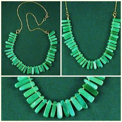 CKD PEDRAS E FOLHEADOS: Um luxo este colar de quartzo verde!!!Mais uma nov...