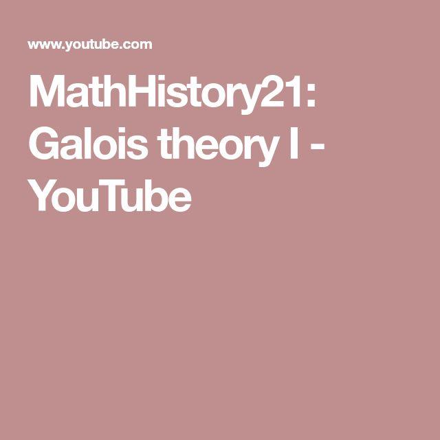 MathHistory21: Galois theory I - YouTube