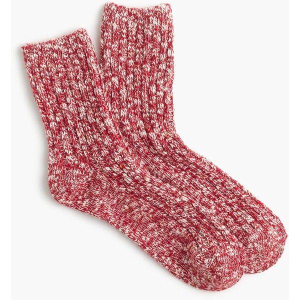 J.Crew Boot Camp Socks ($16) ❤ liked on Polyvore featuring intimates, hosiery, socks, cold weather socks and j crew socks