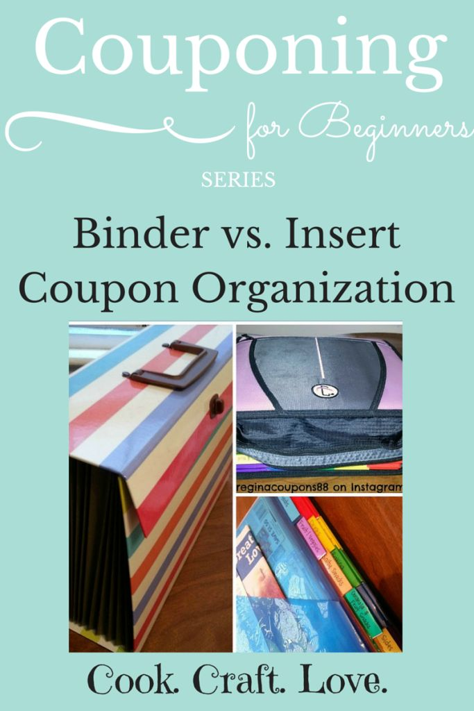 Couponing for Beginners Series: Binder vs. Insert Coupon Organization | cookcraftlove.com