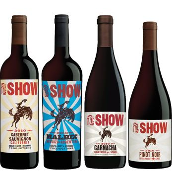 "Three Thieves partnered with Nashville's Hatch Show Print to create a crowd-pleasing favorite - ""The Show.""  The Show adds yet another breath of fresh air to the sometimes-stuffy world of wine as its big, bold varietals meet big, bold labels. So if you're ready to enjoy a more adventurous wine that speaks to your personality. ENJOY THE SHOW! #winedesign"