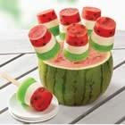 watermelon popsicles....: Frozen Pops, Idea, Sweet, Food, Cream Cheese, Watermelon Popsicles