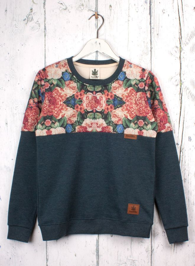 Kaotiko - tienda online:  Sudadera Kaotiko partida Floral/indigo