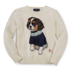 Dog Cotton Sweater - Girls 2-6X Sweaters - RalphLauren.com