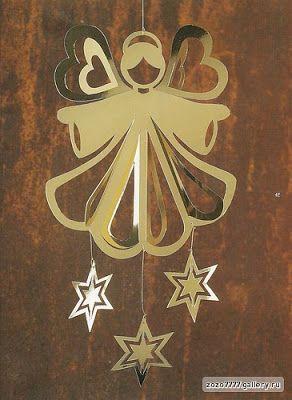 A dica de hoje é esse lindo móbile de anjo para confeccionar de papel:  http://cantinhoalternativo.blogspot.com.br/2012/11/mobile-de-anjo-de-papel.html