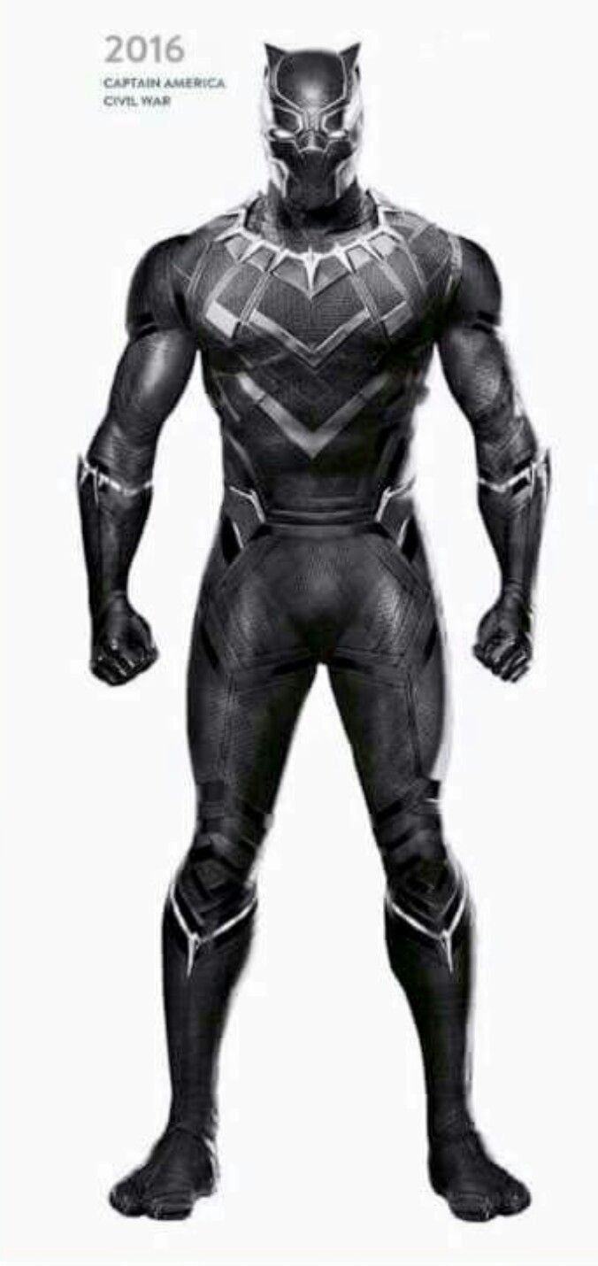 Black Panther in his Captain America:Civil War(2016)  Uniform Outfit