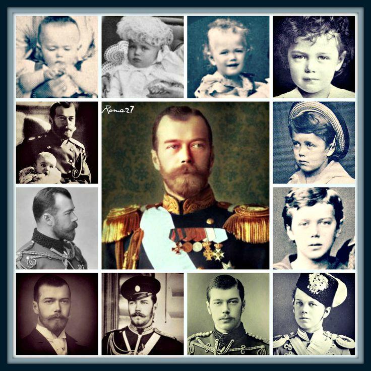 A collage dedicated to Tsar Nicholas II Alexandrovich Romanov (1868-17 Jul 1918) Russia By Virginia 27 romanovcolors.tumblr.com