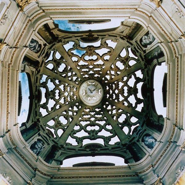 Clock in the dome of Santa Maria Assumpta, Sabbionetta, Italy,1997, by David Stephenson