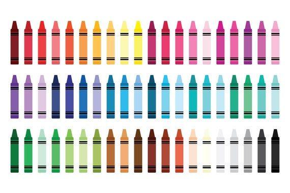 Crayon Divider Clip Art Set Png Svg Vector Blank Color Etsy Clip Art Borders Clip Art Colorful Drawings