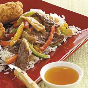 Beef Stir-Fry with Peanut Sauce we doubled the sauce and it was amazing!