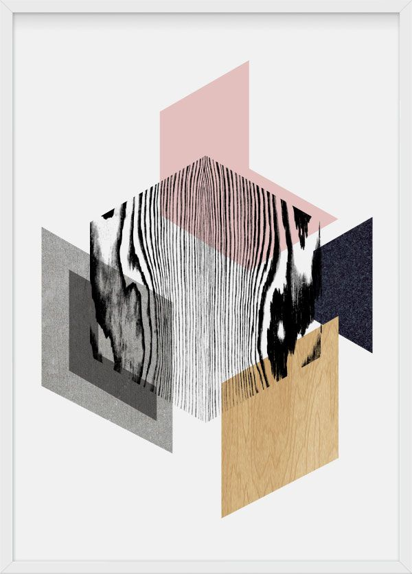 Material world, illustration by Julia Kaiser #material #symmetry #hexagon #hexagonal #geometrical #shape #geometry #minimalism #pastels #marble #concrete #stone #wood #artprint #limitededition