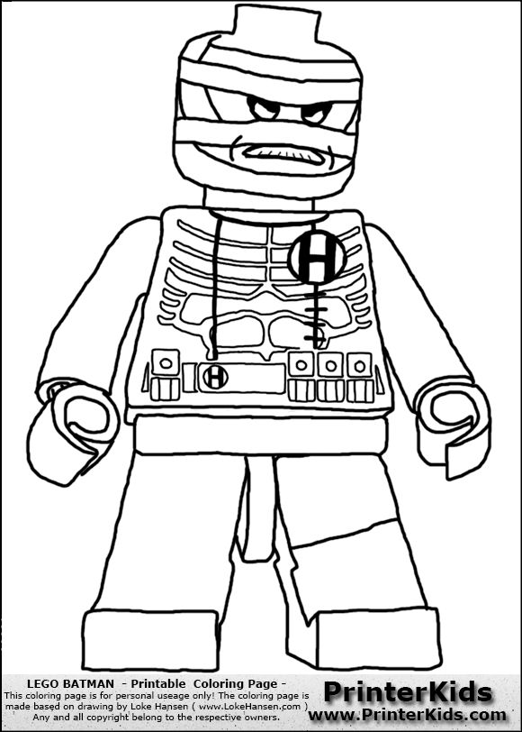 Lego Movie Coloring Pages Pdf : Color pages for batman s villians lego hush