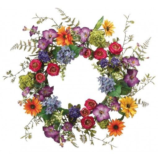 Looking for a simple and happiest Christmas decoration? Here you go #wreaths #daisy #ranunculus
