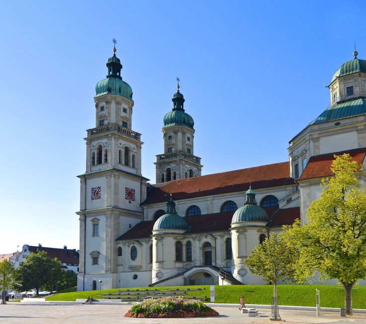 #architecture #baroque #basilica #church #double tower #kempten #kirchplatz #residence #spires #st lorenz basilica
