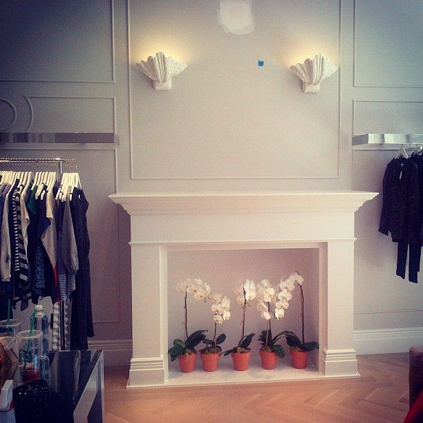 The fireplace at our new Fashion Island store