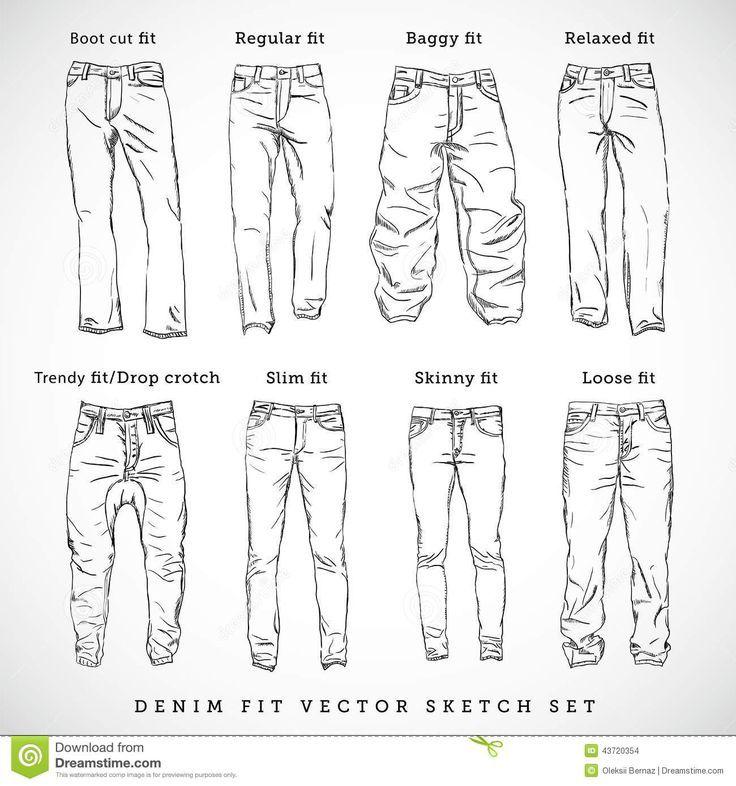 Wie die andere Art der Jeans zu zeichnen – die Zeichnung der Kleidung