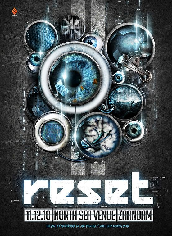 Grafisch ontwerp van Dutchaholic voor Reset - Artwork - Event - Poster design - eyes