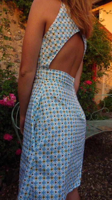 Une belle gown élégante pour l'été Patron disponible du 34 au 44 Tuto et p…