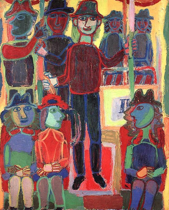 Jean Dubuffet, Métro, 1943. oil on canvas, 162 x 130 cm