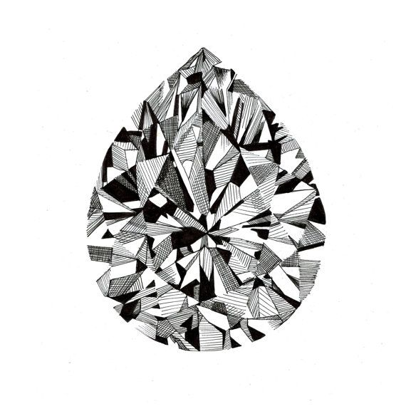 Pearcut Diamond Print by BettsandBrand on Etsy,