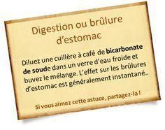 Bicarbonate de soude et digestion