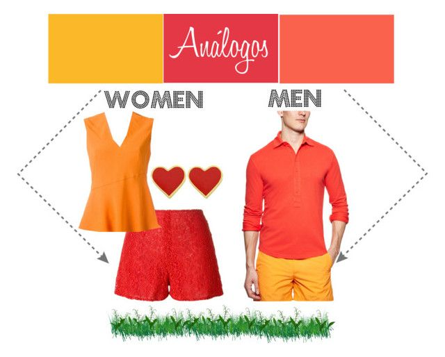 """""""Red color combinations"""" by leloquevedo on Polyvore featuring Orlebar Brown, Giamba, Carven, women's clothing, women, female, woman, misses and juniors"""