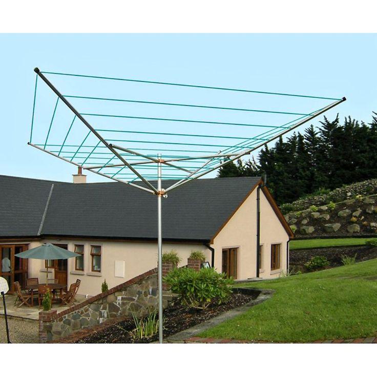 Breezecatcher TS4-140 7-Line Outdoor Umbrella Clothesline - The Breezecatcher is…