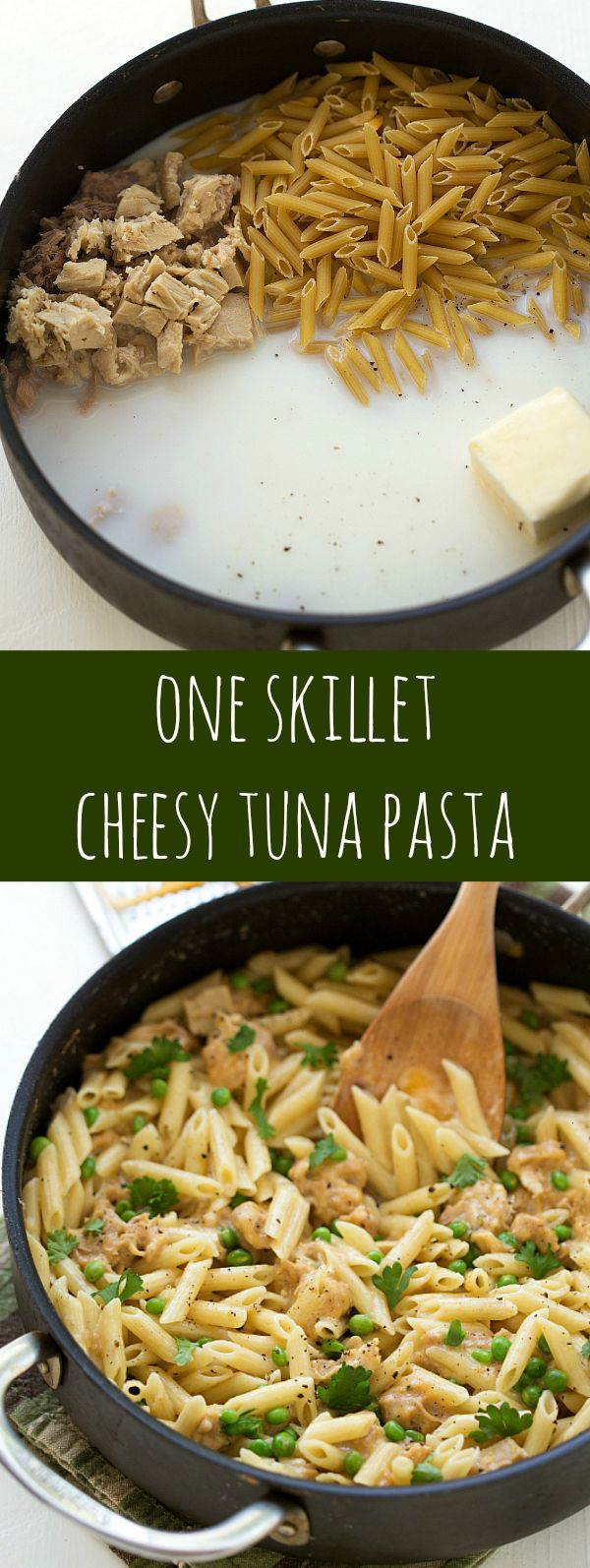 One Skillet Cheesy Tuna Pasta