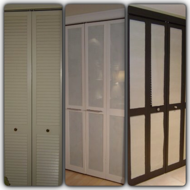Nice Idea For Old Bi Fold Doors Remove The Slats