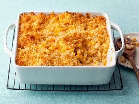 Alton Brown's Baked Macaroni and Cheese. This is Food Network's most requested recipe of all time.