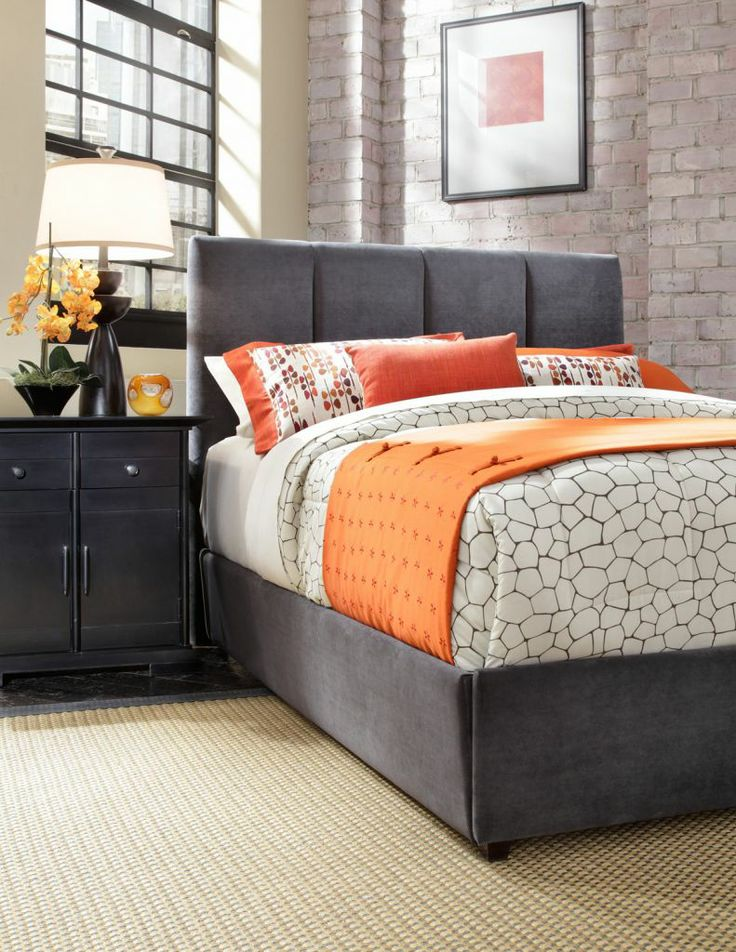 10 best images about orange and gray bedroom on pinterest - Grey and orange bedroom ...