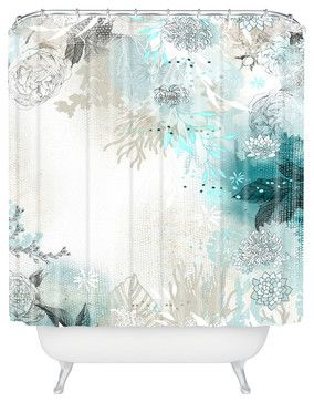 Iveta Abolina Seafoam Shower Curtain - contemporary - Shower Curtains - DENY Designs