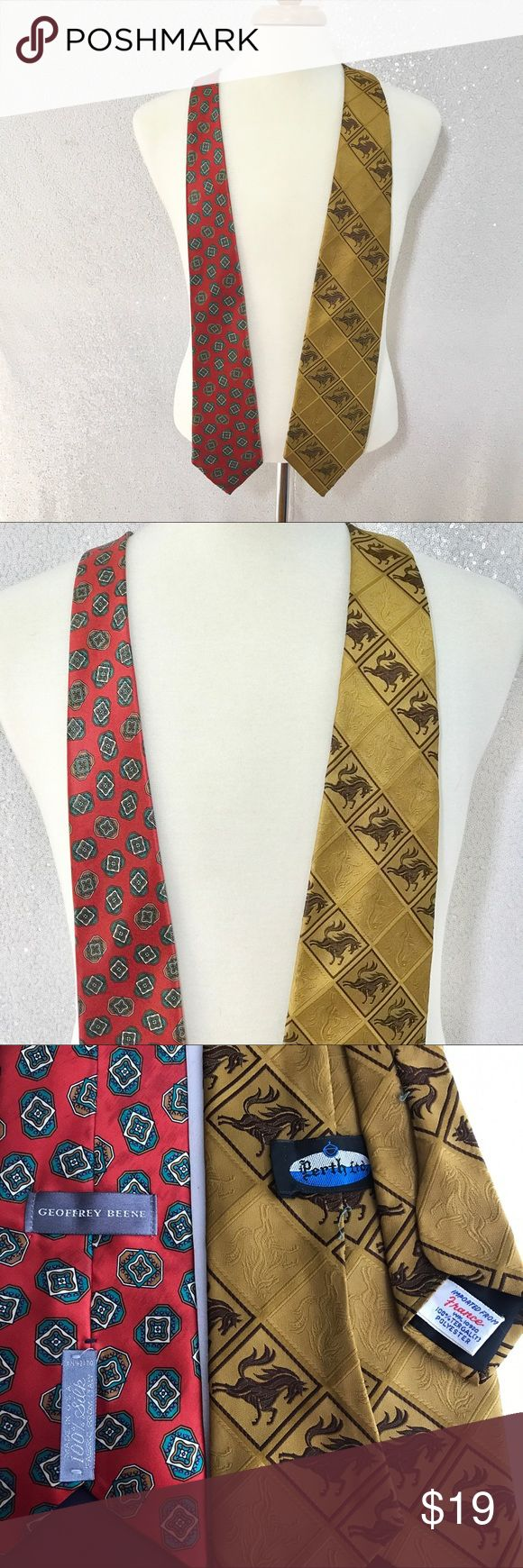 Geoffrey Beene silk necktie bundle Two neckties. Geoffrey Beene and Perth Ltd. Colors may vary slightly to lighting and photos. No holes, rips or stains. Measurements approximately as shown. ❌Smoke and pet free home. ⚡️Same/next day shipping. 💲Save by bundling or make a reasonable offer through the offer button. 🚫No holds, trades or modeling. 📦Wrapped and shipped with care. 🎁Includes free gift. Geoffrey Beene Accessories Ties
