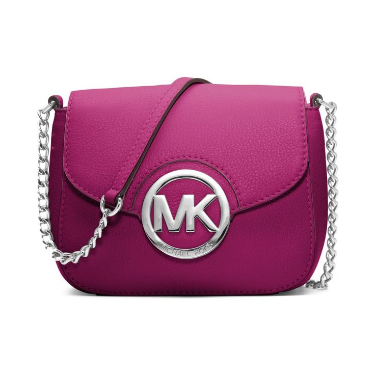 cross body bags: Michael Kors New Fulton Small Messenger Pink Crossbody  Leather Bag Handbag