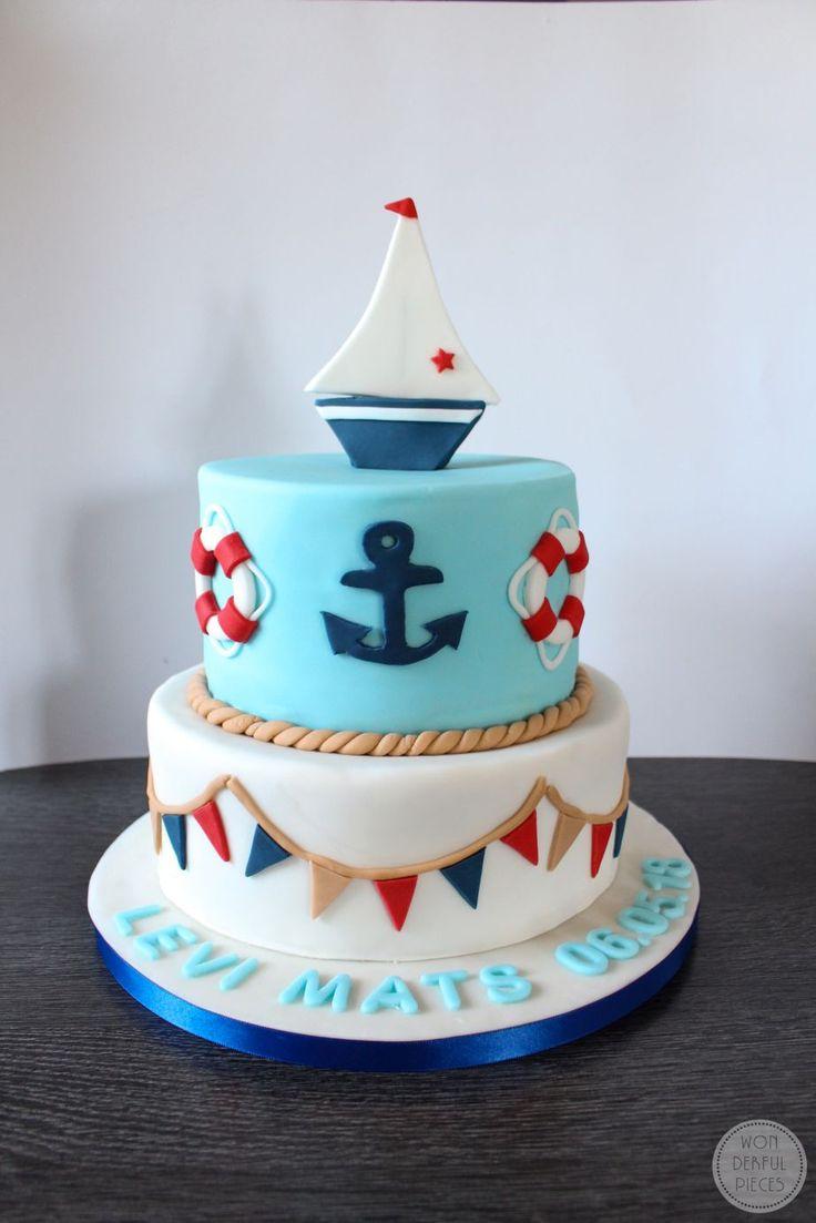 Maritime Tauftorte mit Schoko und Heidelberrfüllu…
