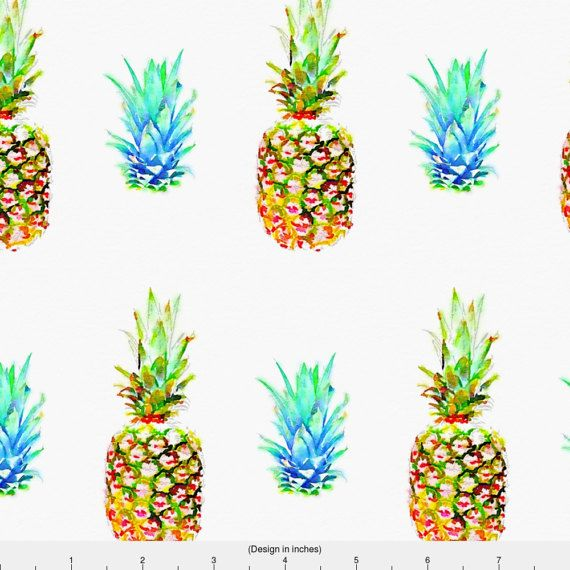 Watercolor Summer Pineapple Fabric  Pineapples Are Everything