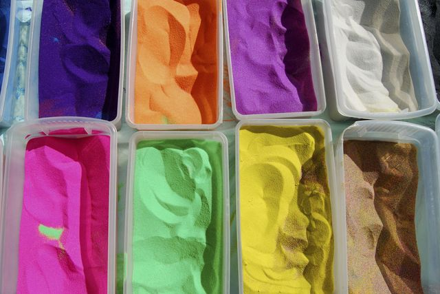 Use two common household materials to make homemade Magic Sand, a special play sand that doesn't get wet in water.