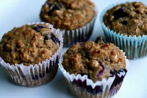 As I write this my house smells like heaven.  I've just made this batch of blueberry oat muffins, to curb the recent  morning pas...