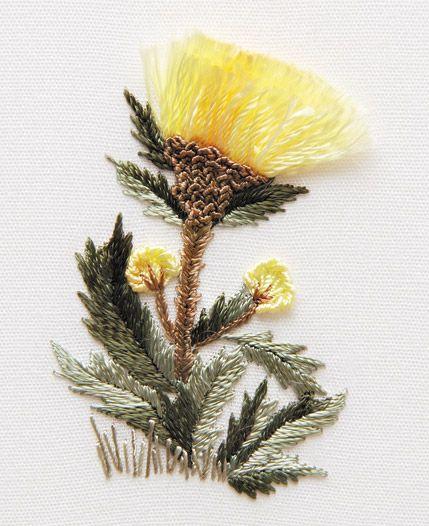 Embroidered Cornflower - EdMar Co. 17 Series Patterns