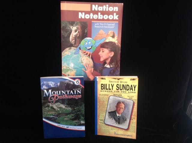 Abeka Mtn Pathways, Nation Notebook,  Billy Sunday Gr. 6, Homeschool School #StudentResearchHandbookReaders