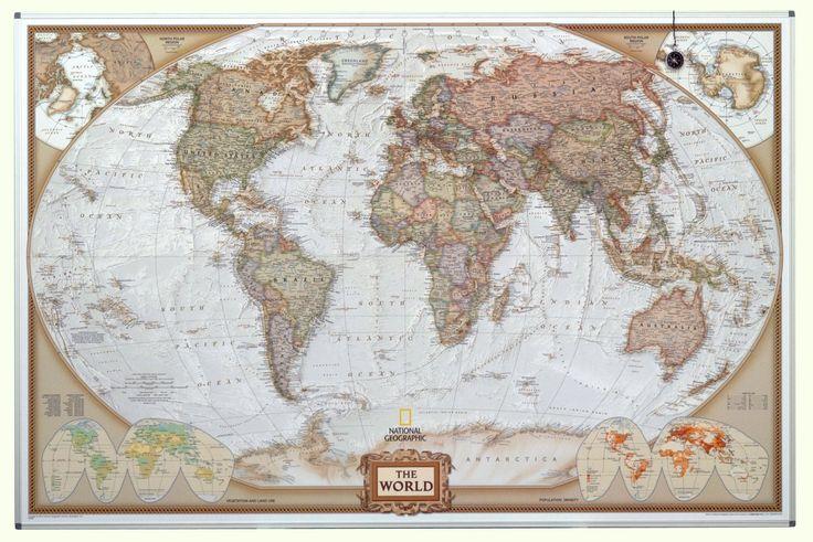 Wereldkaart winkel België - Alle wereldkaarten : National Geographic antiek wereldkaart op magneetbord [prijs is inclusief btw en porto]