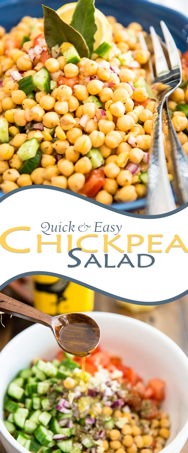 Chickpea Salad   thehealthyfoodie.com