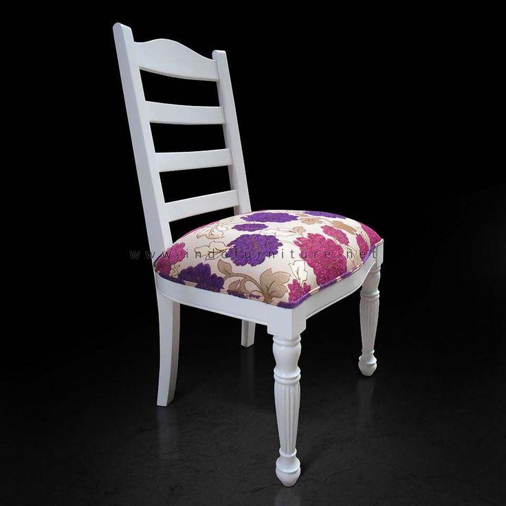 Kursi Makan Minimalis White Duco   Indo Furniture